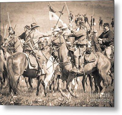 Gettysburg Cavalry Battle 8021s  Metal Print