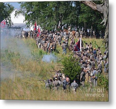 Gettysburg Confederate Infantry 8825c Metal Print
