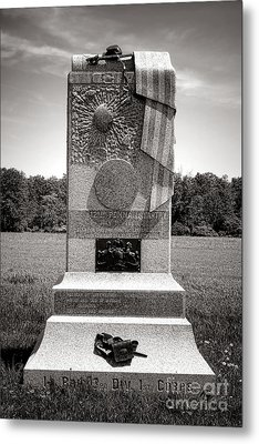 Gettysburg National Park 121st Pennsylvania Infantry Monument Metal Print by Olivier Le Queinec