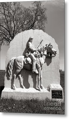 Gettysburg National Park 17th Pennsylvania Cavalry Monument Metal Print by Olivier Le Queinec