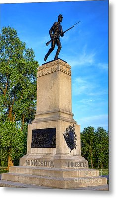 Gettysburg National Park 1st Minnesota Infantry Memorial Metal Print by Olivier Le Queinec