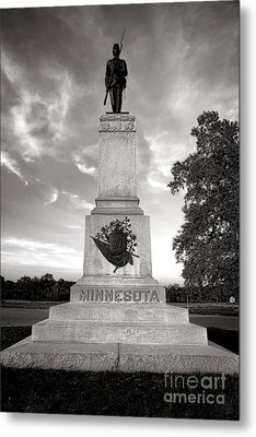 Gettysburg National Park 1st Minnesota Infantry Monument Metal Print by Olivier Le Queinec
