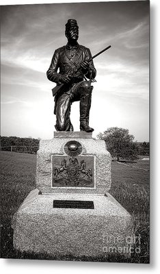 Gettysburg National Park 1st Pennsylvania Cavalry Monument Metal Print by Olivier Le Queinec