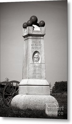 Gettysburg National Park 2nd Maine Battery Monument Metal Print by Olivier Le Queinec