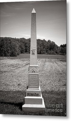 Gettysburg National Park 3rd Indiana Cavalry Monument Metal Print