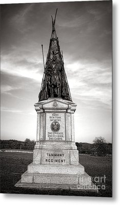 Gettysburg National Park 42nd New York Infantry Monument Metal Print