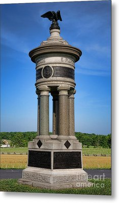 Gettysburg National Park 71st And 72nd New York Infantry Memorial Metal Print by Olivier Le Queinec