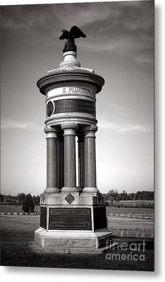 Gettysburg National Park 71st And 72nd New York Infantry Monument Metal Print by Olivier Le Queinec