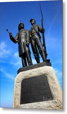 Gettysburg National Park 73rd Ny Infantry Second Fire Zouaves Memorial Metal Print by Olivier Le Queinec