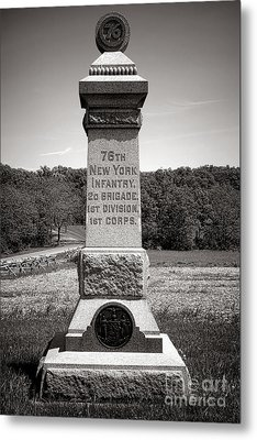 Gettysburg National Park 76th New York Infantry Monument Metal Print by Olivier Le Queinec