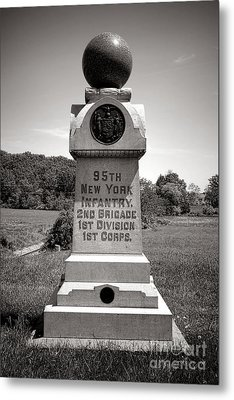 Gettysburg National Park 95th New York Infantry Monument Metal Print by Olivier Le Queinec