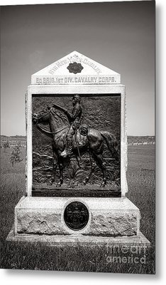 Gettysburg National Park 9th New York Cavalry Monument Metal Print by Olivier Le Queinec
