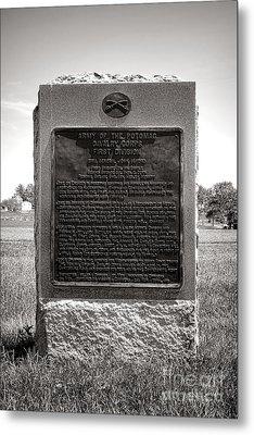 Gettysburg National Park Army Of The Potomac Cavalry Corps Monument Metal Print by Olivier Le Queinec