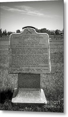 Gettysburg National Park Army Of The Potomac First Brigade Monument Metal Print by Olivier Le Queinec