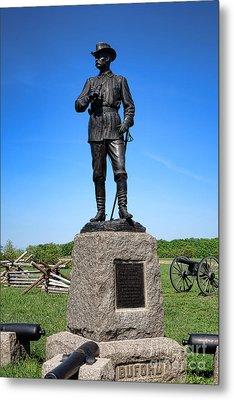Gettysburg National Park Major General John Buford Memorial Metal Print by Olivier Le Queinec