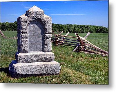 Gettysburg National Park Third West Virginia Cavalry Memorial Metal Print by Olivier Le Queinec