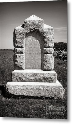 Gettysburg National Park Third West Virginia Cavalry Monument Metal Print by Olivier Le Queinec
