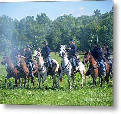 Gettysburg  Union Cavalry Metal Print