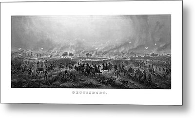 Gettysburg Metal Print by War Is Hell Store