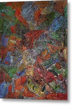 Sunset 44 Oil On Board 16 X 20 2016 Metal Print by Radoslaw Zipper