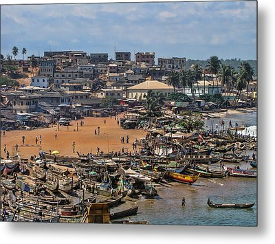 Metal Print featuring the photograph Ghana Africa by David Gleeson