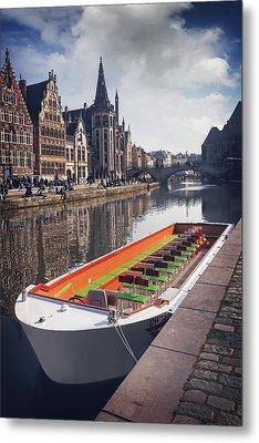 Ghent By Boat Metal Print by Carol Japp