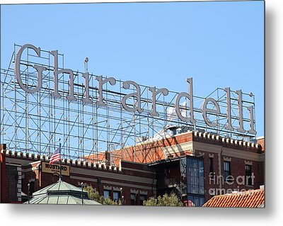Ghirardelli Chocolate Factory San Francisco California . 7d13979 Metal Print by Wingsdomain Art and Photography