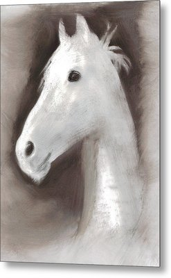 Metal Print featuring the painting Ghost Horse by FeatherStone Studio Julie A Miller
