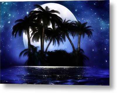 Shadow Island Metal Print by Gabriella Weninger - David