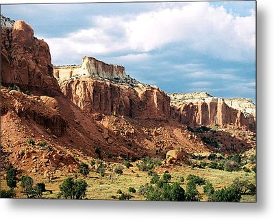 Ghost Ranch Hills Metal Print by Diana Davenport