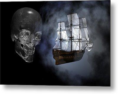 Ghost Ship Metal Print by Claude McCoy