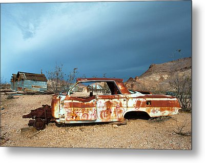 Metal Print featuring the photograph Ghost Town Old Car by Catherine Lau
