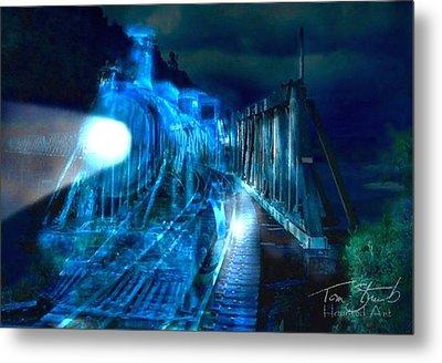 Ghost Train Bridge Metal Print by Tom Straub