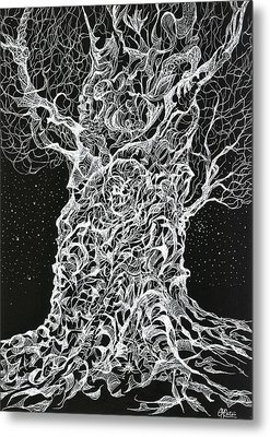 Ghost Tree Metal Print by Charles Cater