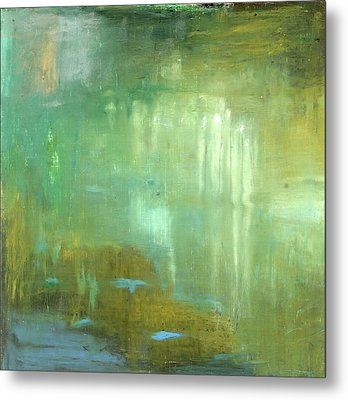 Metal Print featuring the painting Ghosts In The Water by Michal Mitak Mahgerefteh