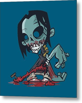 Ghoul T-shirt Metal Print by Herb Strobino