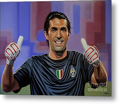 Gianluigi Buffon Painting Metal Print by Paul Meijering