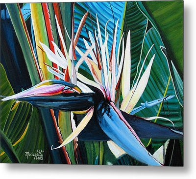 Giant Bird Of Paradise Metal Print by Marionette Taboniar