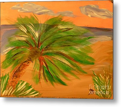 Giant Palm Tree Metal Print by Marie Bulger