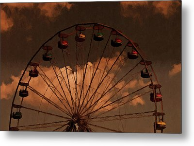 Metal Print featuring the photograph Giant Wheel by David Dehner