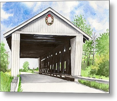 Giddings Road Bridge Metal Print