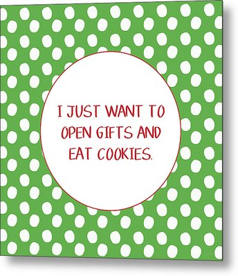 Gifts And Cookies- Art By Linda Woods Metal Print by Linda Woods