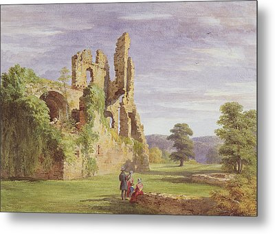 Gight Castle, 1851 Metal Print by James Giles