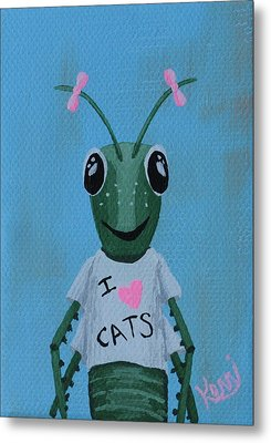 Gigi The Grasshopper's School Picture Metal Print