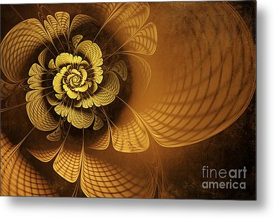 Gilded Flower Metal Print