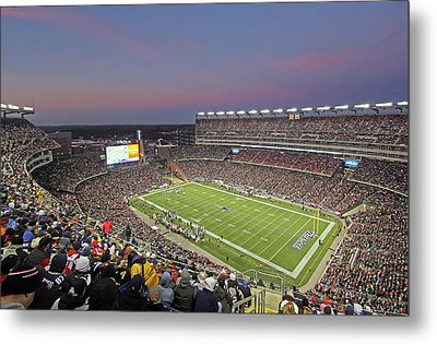 Gillette Stadium And New England Patriots Metal Print by Juergen Roth