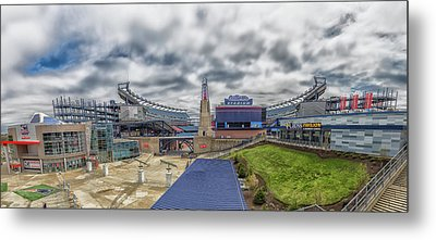 Gillette Stadium And The Hall At Patriot Place Metal Print by Brian MacLean