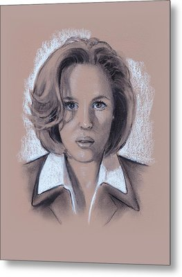Gillian Anderson X Files Metal Print by Joyce Geleynse