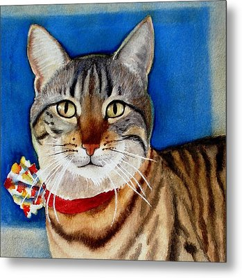 Metal Print featuring the painting Ginger by Marilyn Jacobson