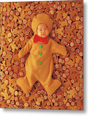 Gingerbread Baby Metal Print by Anne Geddes